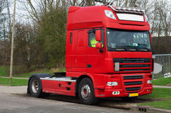 Camion de transport rouge Images stock