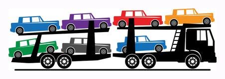 Camion de transporteur de véhicule illustration de vecteur