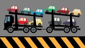 Camion de transporteur de voiture illustration de vecteur