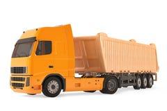 Camion de véhicule de livraison de cargaison. Photos libres de droits