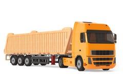 Camion de véhicule de livraison de cargaison. Images libres de droits
