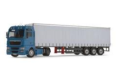 Camion de véhicule de livraison de cargaison Photographie stock libre de droits