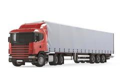 Camion de véhicule de livraison de cargaison Photo stock