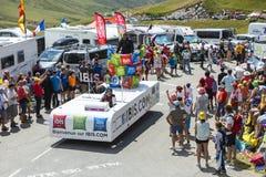 Camion degli hotel del bilancio dell'ibis - Tour de France 2015 Fotografia Stock