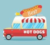 Camion dei hot dog di vettore Fotografia Stock Libera da Diritti