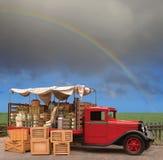 Camion dei prodotti fotografia stock libera da diritti