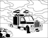 Camion dei semi illustrazione vettoriale