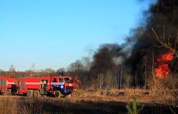 Camion dei vigili del fuoco Fotografia Stock