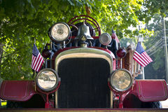 Camion dei vigili del fuoco antico Fotografia Stock