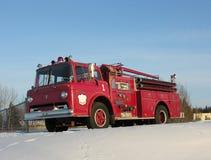 Camion dei vigili del fuoco antico Fotografia Stock Libera da Diritti