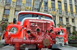 Camion dei vigili del fuoco d'annata Immagine Stock