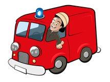 Camion dei vigili del fuoco del fumetto Fotografie Stock