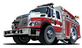 Camion dei vigili del fuoco del fumetto di vettore Fotografia Stock