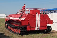 Camion dei vigili del fuoco del trattore a cingoli Fotografia Stock Libera da Diritti