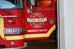 Camion dei vigili del fuoco di Seattle Fotografia Stock