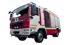 Camion dei vigili del fuoco moderno Fotografia Stock Libera da Diritti