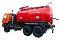 Camion dei vigili del fuoco moderno con una carrozza arancio Immagini Stock Libere da Diritti