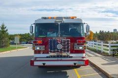 Camion dei vigili del fuoco nel reparto del fuoco in Merrimack, NH, U.S.A. immagine stock