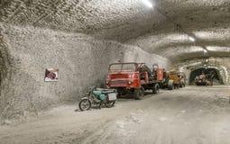Camion dei vigili del fuoco nell'impianto minerario Sondershausen in Germania Fotografia Stock Libera da Diritti