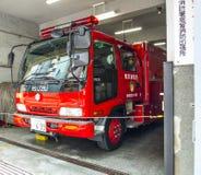 Camion dei vigili del fuoco rosso Fotografia Stock Libera da Diritti
