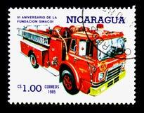 Camion dei vigili del fuoco, sesto anniversario del serie del fondamento di Sinacoi, circa 1 Fotografia Stock Libera da Diritti