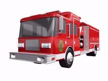 Camion dei vigili del fuoco su bianco Fotografia Stock