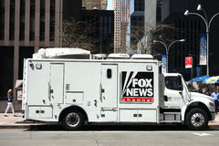 Camion del canale Fox News Immagini Stock Libere da Diritti