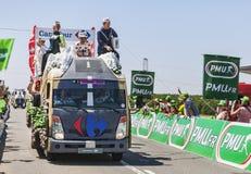 Camion del Carrefour Fotografie Stock