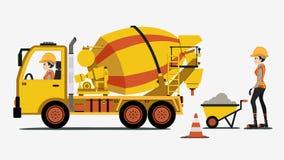 Camion del cemento illustrazione di stock