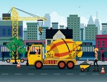 Camion del cemento illustrazione vettoriale