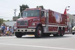 Camion del corpo dei vigili del fuoco dell'insenatura del nero di Freightliner Fotografie Stock Libere da Diritti