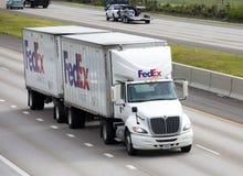 Camion del Federal Express Fotografia Stock