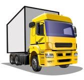 Camion del fumetto su un fondo bianco immagini stock libere da diritti
