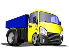 Camion del fumetto su un fondo bianco immagine stock