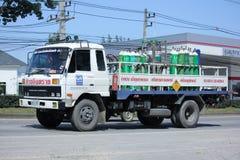 Camion del gas della società di gas industriale di Lanna Fotografia Stock