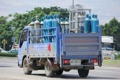Camion del gas della società di gas industriale nordica Fotografia Stock