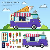 Camion del gelato Immagine Stock Libera da Diritti