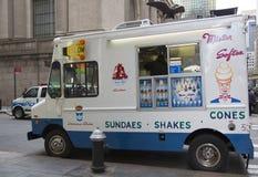 Camion del gelato nel Midtown Manhattan Fotografie Stock Libere da Diritti