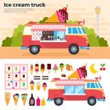 Camion del gelato in un giorno caldo Fotografia Stock