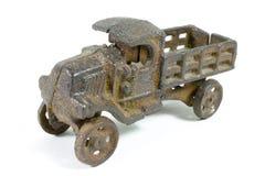 Camion del giocattolo dell'oggetto d'antiquariato Fotografie Stock Libere da Diritti