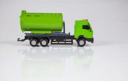 Camion del giocattolo su priorità bassa bianca Fotografia Stock Libera da Diritti