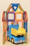 Camion del ` s dei bambini nel garage Fotografie Stock