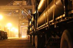 Camion del tubo a gas della porta Fotografia Stock Libera da Diritti