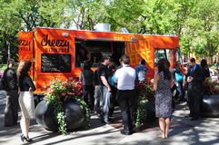 Camion dell'alimento di Cheezy Bizness Immagine Stock