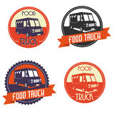 Camion dell'alimento di logo illustrazione di stock