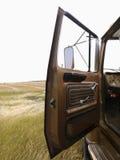 Camion dell'azienda agricola con il portello aperto. Fotografia Stock Libera da Diritti