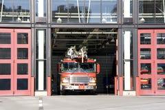 Camion della caserma dei pompieri Fotografia Stock