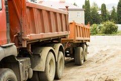 Camion della costruzione Fotografie Stock