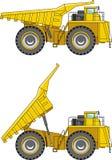 camion della Fuori strada principale Carrelli di miniera pesanti Fotografie Stock Libere da Diritti