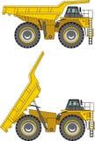 camion della Fuori strada principale Carrelli di miniera pesanti Illustrazione di vettore Immagini Stock